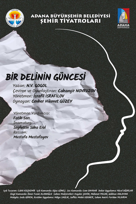 Adana-Sehir-Tiyatrosu-Afis-Bir Delinin Güncesi